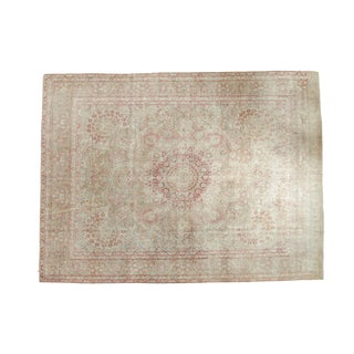 "Vintage Distressed Meshed Carpet - 9'3"" x 12'5"""