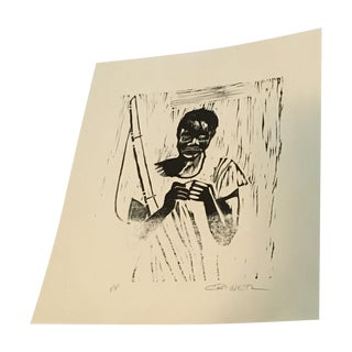 """""""Baiting Hook"""" Lithograph by Charles Criner"""