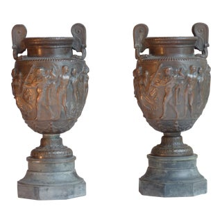 Early 19th Century Bronze Neoclassical Garnitures - A Pair