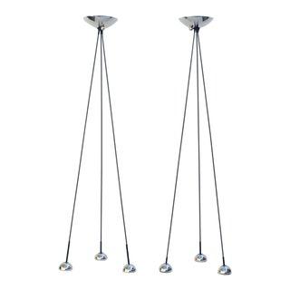 Nickel Torchiere Floor Lamp by Koch & Lowy - A Pair