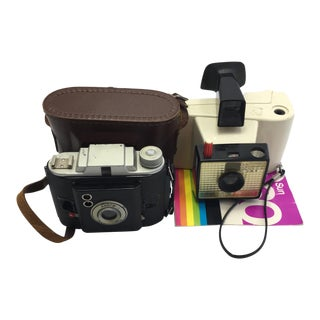 Polaroid & Ansco Cameras - A Pair