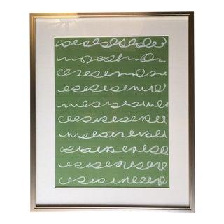 "Original Kayce Hughes Drawing - ""Musings on Green"""
