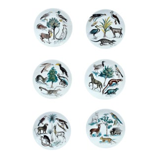 Six Limoges CH Field Haviland Earthly Paradise Animal Plates