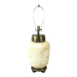 Chapman Crackle Glaze Crane Lamp