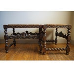 Image of Pair 19th Century Jacobean End Tables