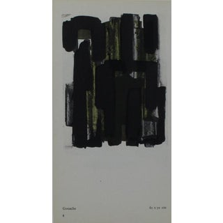 Pierre Soulages Pochoir Print