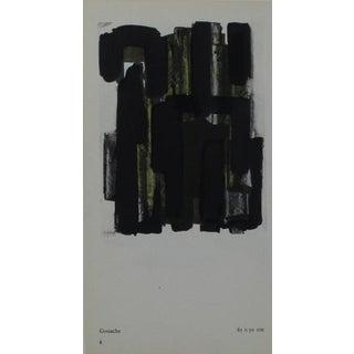 Pierre Soulages Pochoir Print