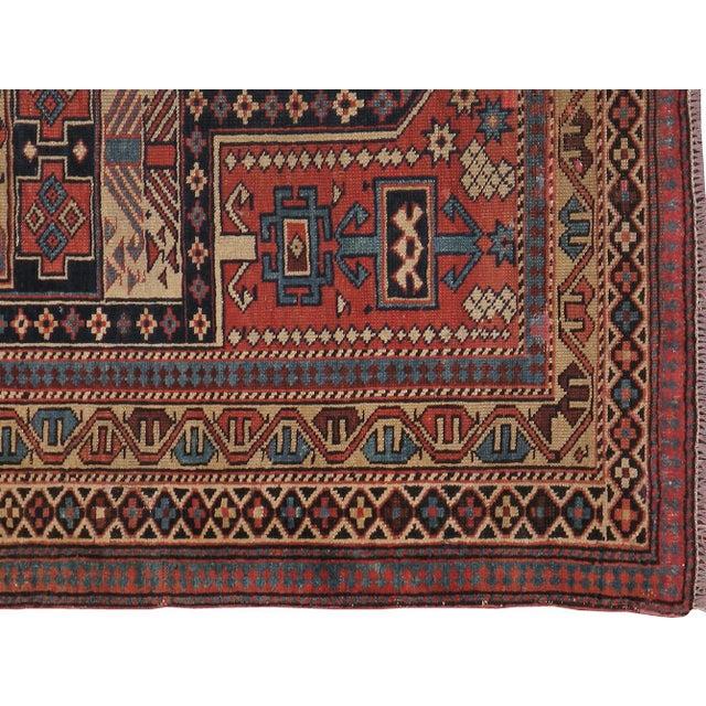 """Image of Caucasian Kazak Antique Rug - 4'1"""" X 4'10"""""""