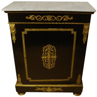 Neapolitan Bronze Mounted Ebonized Cabinet