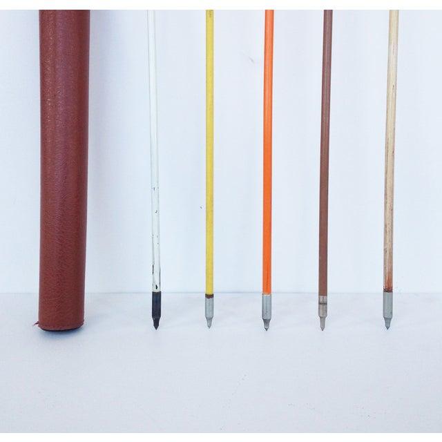 Vintage Wood Arrows & Quiver- Set of 5 - Image 5 of 5