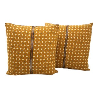 Indian Block Print Pillows - A Pair