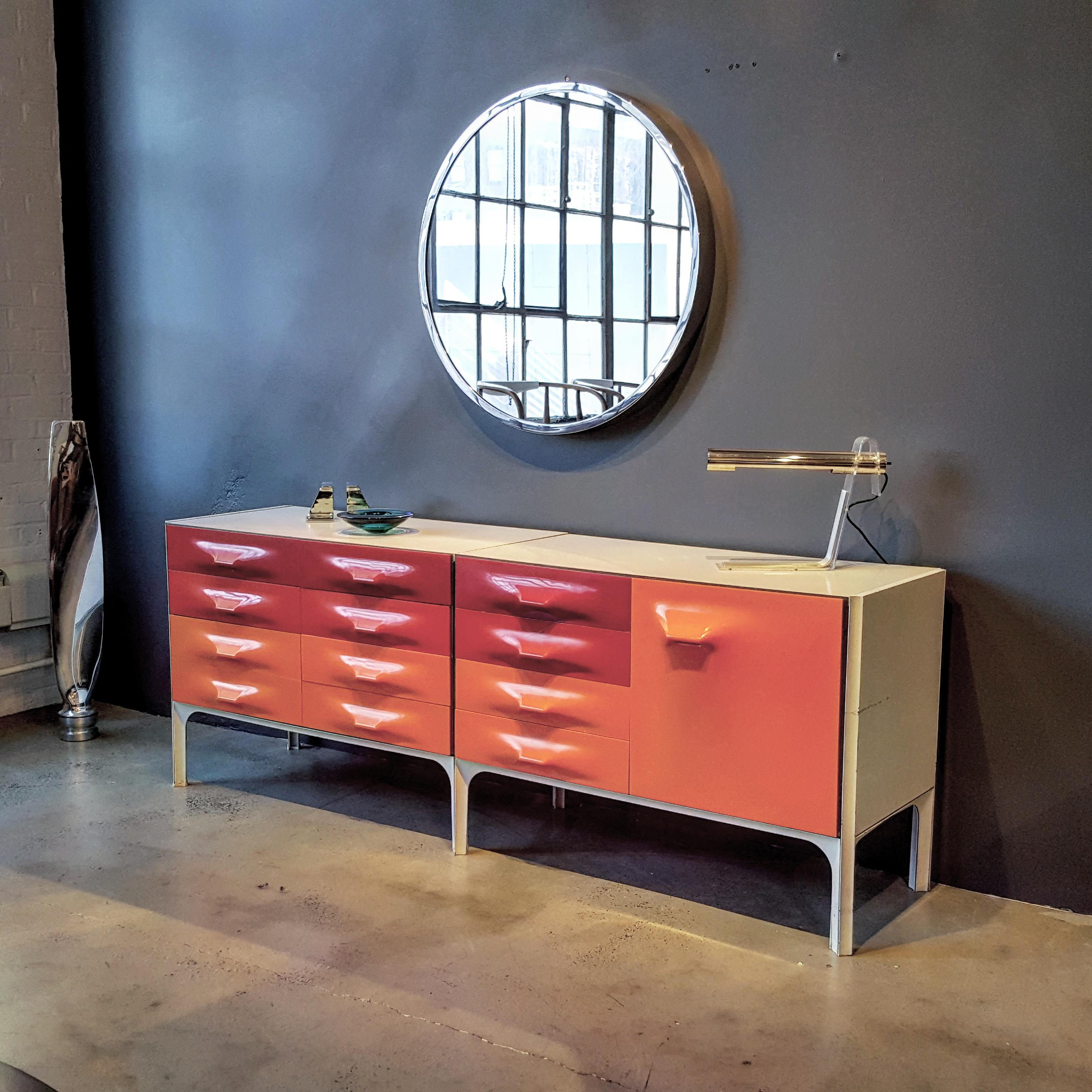 space age raymond loewy df2000 credenza for doubinsky frres france rare