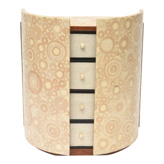 Bone, Shagreen and Mahogany Jewelry Box or Small Cabinet by R & Y Augousti