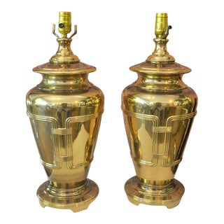 Vintage Brass Lamps - Pair