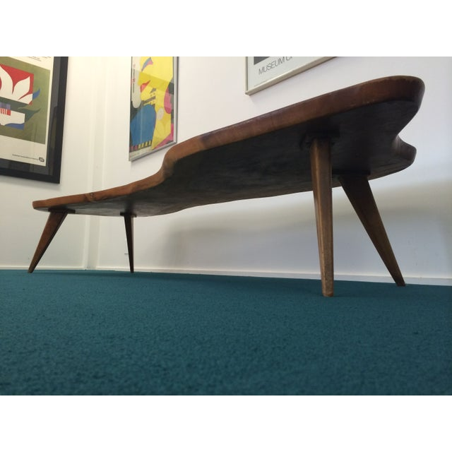Large Vintage Monkey Pod Wood Slab Coffee Table - Image 3 of 7