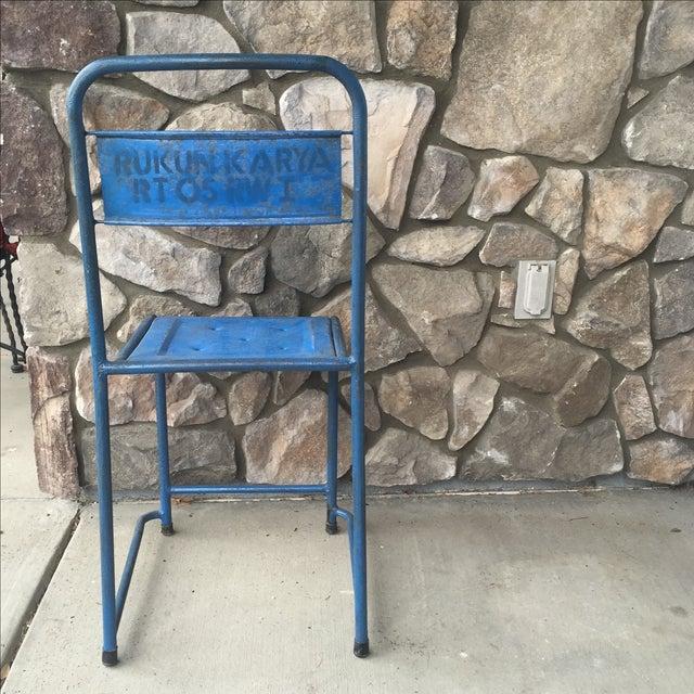 Vintage Bali Metal Garden Chairs - Set of 7 - Image 3 of 7