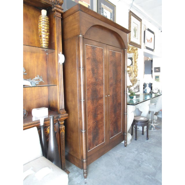 Faux Alligator Armoire - Image 4 of 5