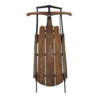 Antique Wood & Metal Sled