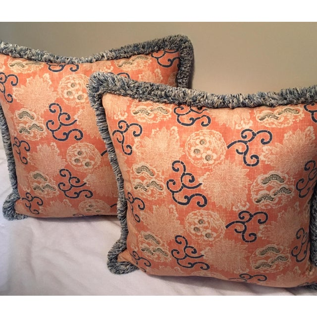 Quadrille Pillows with Samuel & Sons Trim - Pair Chairish
