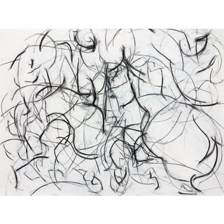 Polo Player Movement II Abstract Drawing