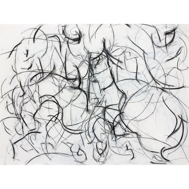 Polo Player Movement II Abstract Drawing - Image 1 of 5