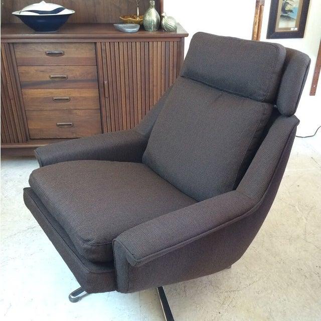 Image of Esa Denmark 1960's Lounge Chair & Ottoman
