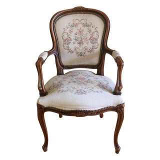 Vintage French Provincial Louis XVI Armchair