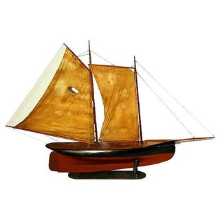 Large Model Ship C. 1880's