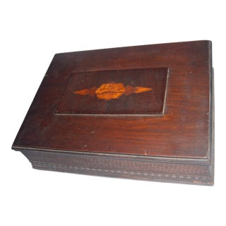 A Nice Old Inlaid Top Decorative Wood Box