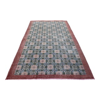"Vintage Turkish Oushak Rug - 5'2"" X 8'7"""