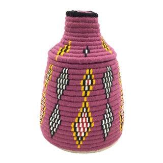 Raspberry & Yellow Moroccan Basket