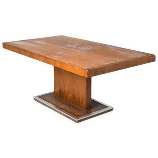 Milo Baughman Walnut Pedestal Table