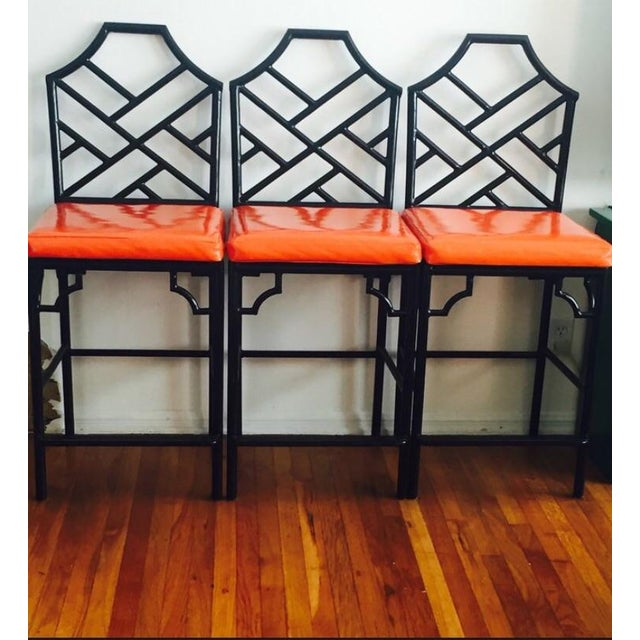 Chinese Chippendale Bar Stools - 3 - Image 2 of 5