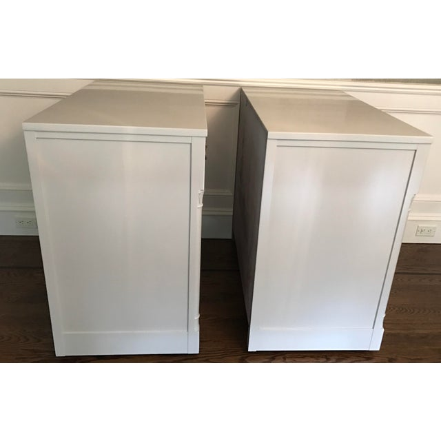 Vintage RWAY Gray Lacquered Chest of Drawers - A Pair - Image 5 of 11
