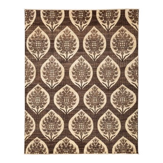 """Patterned Gabbeh Hand Knotted Area Rug - 7'10"""" X 10'"""