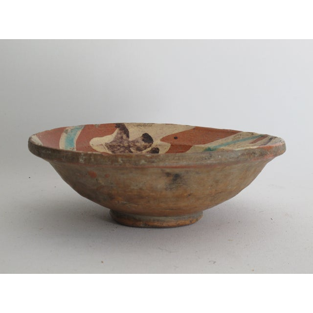 Terracotta Bowl with Flower Motif - Image 2 of 9