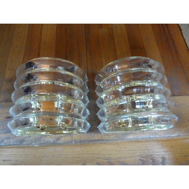 Brass & Lucite Sconces - A Pair - Image 4 of 5