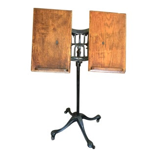 Antique Cast Iron Dictionary Stand
