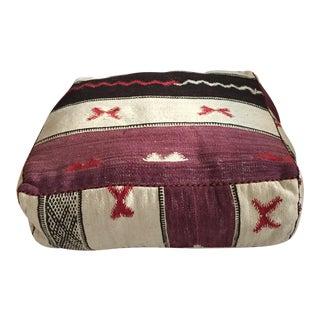 Moroccan Purple & Chocolate Kilim Floor Cushion