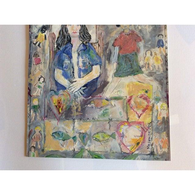 "Rosalyn Mesquita ""Dolls"" Mixed Media Painting - Image 3 of 3"