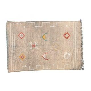Embroidered Berber Sabra Rug - 3′6″ × 5′2″