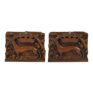 19th Century English Dog Bookends - A Pair