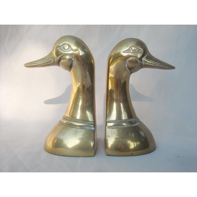 Mid-Century Brass Duck Head Bookends - A Pair - Image 4 of 5