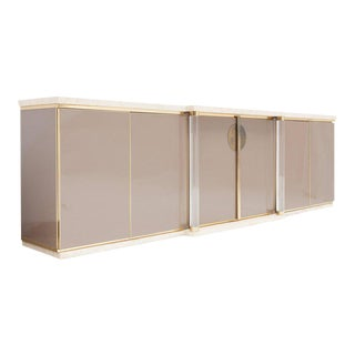 Sideboard with Travertine Top and Base by Maison Jansen