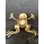 Image of Brass Frog Candle Holder