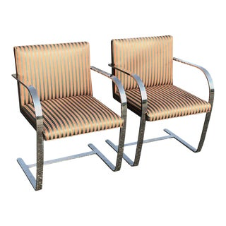 Flat Bar Brno Chairs - A Pair
