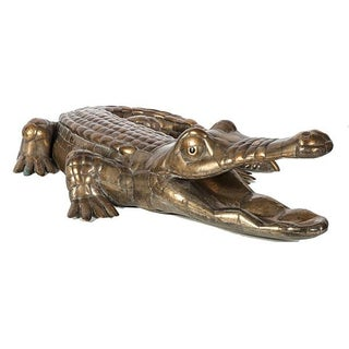 Bustamante Limited Edition Signed Brass Alligator