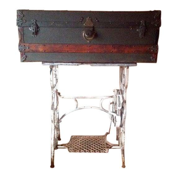 Image of Antique Frank G. Phillips Steamer Trunk