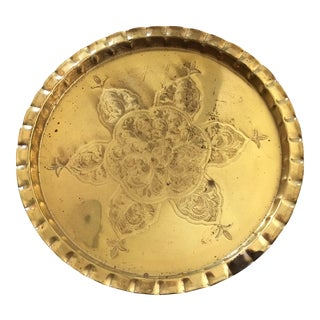Vintage Brass Plated Tray
