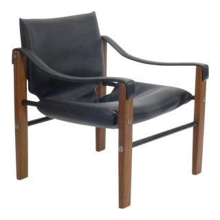 Maurice Burke for Arkana Leatherette Sling Lounge Chair